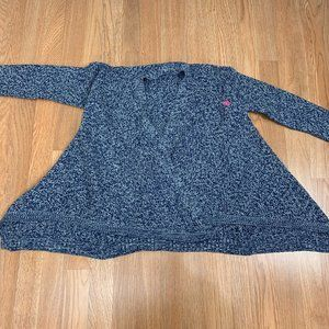U.S. Polo ASSN Blue & Silver Open Front Sweater